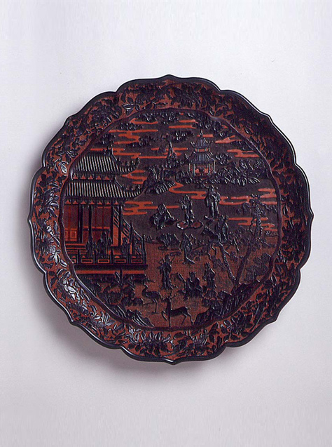 Black and Red Lacquer Dish