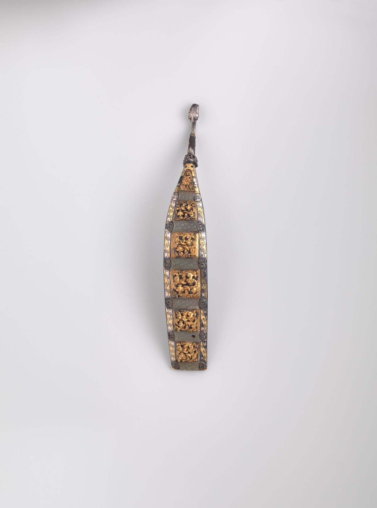 Iron, Gold, Silver and Jade Garment-Hook (daigou)