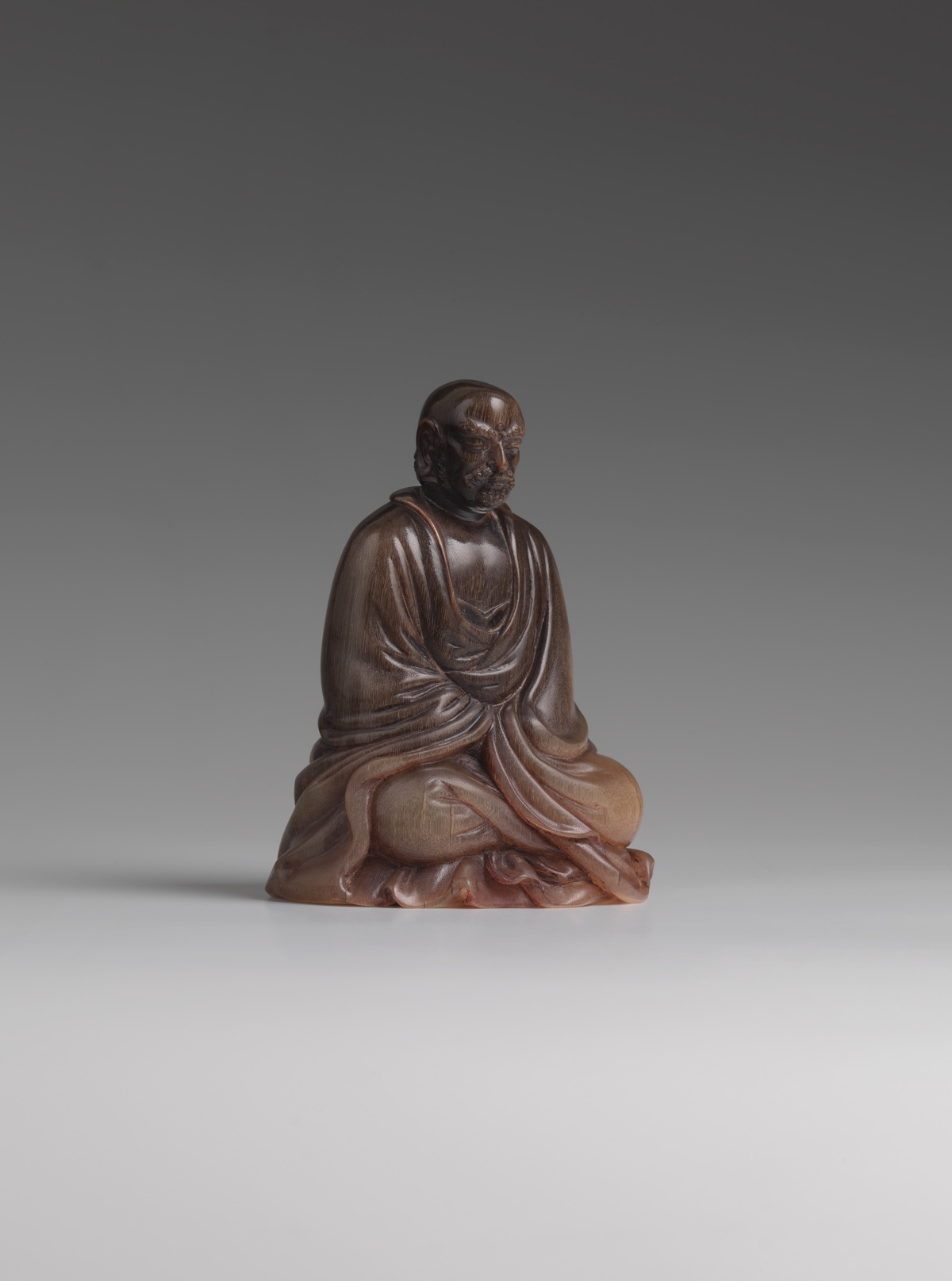 View Rhinoceros Horn Figure of Bodhidharma