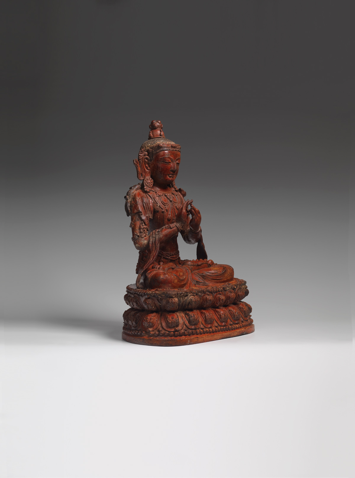 View Dry Lacquer Figure of Mañjuśrī
