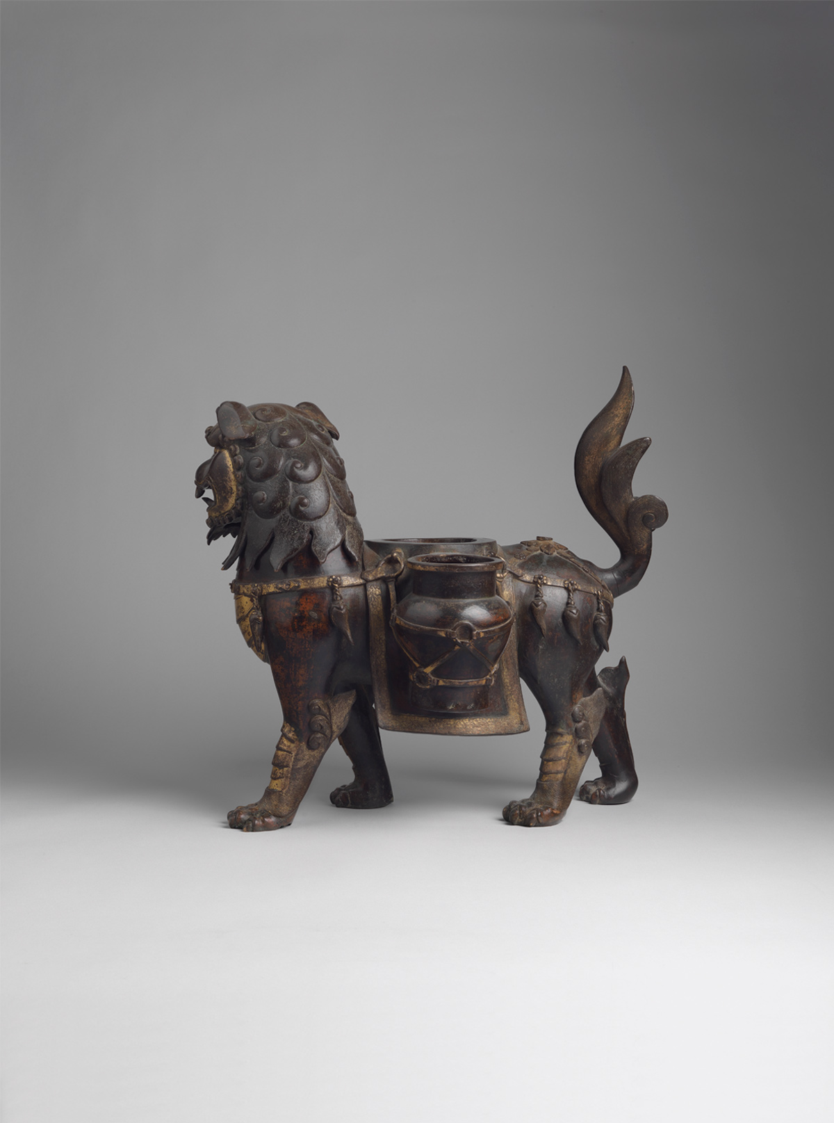 Parcel-gilt Bronze Lion