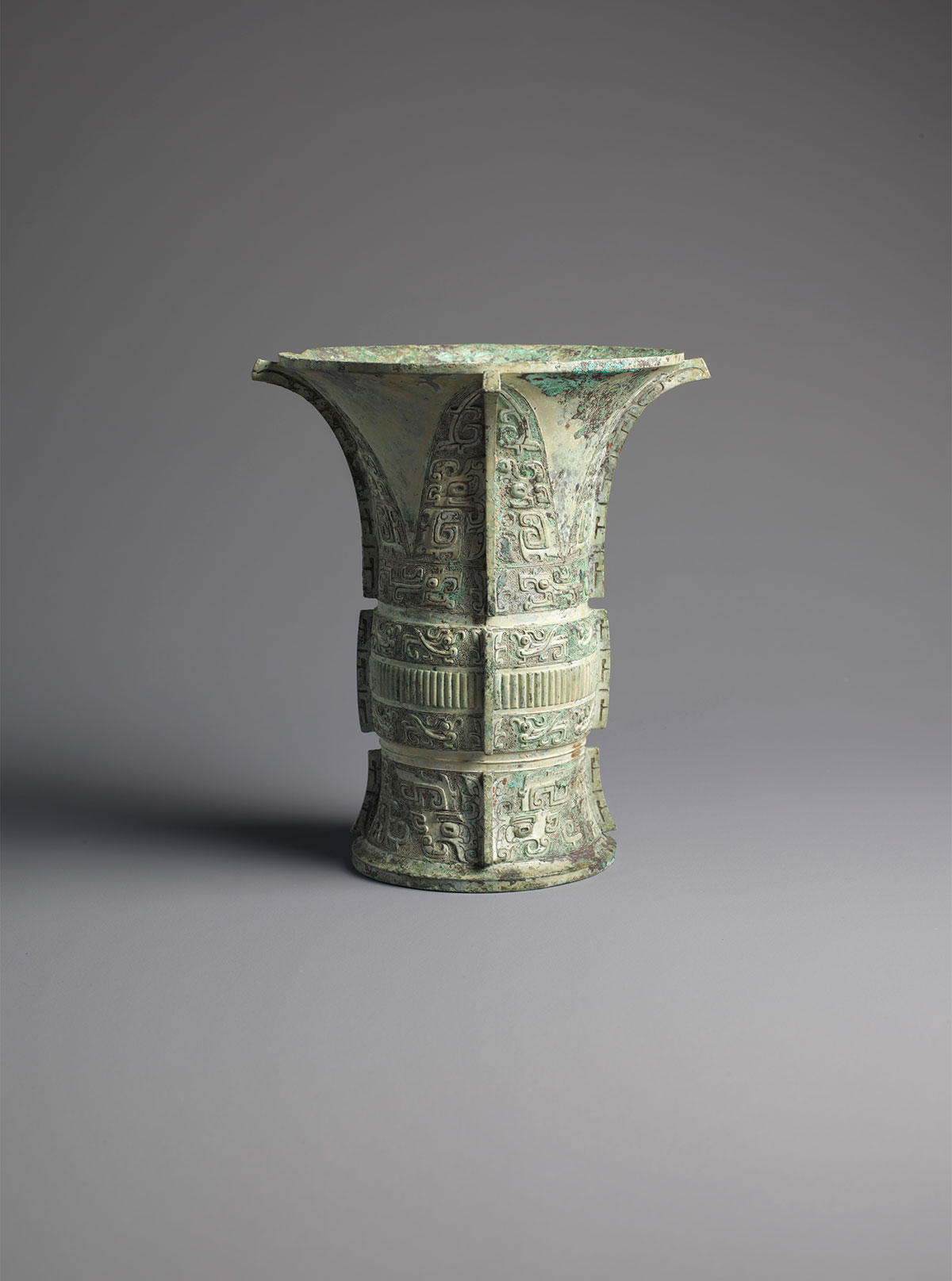 View Archaic Bronze Wine Vessel (zun)
