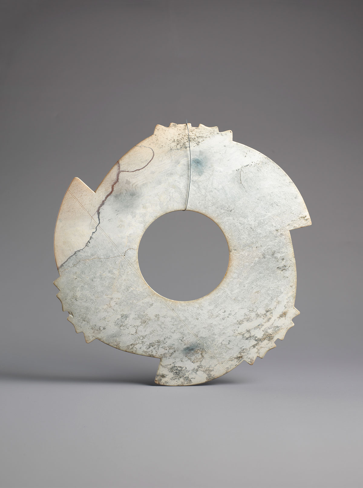 Archaic Jade Notched Disc