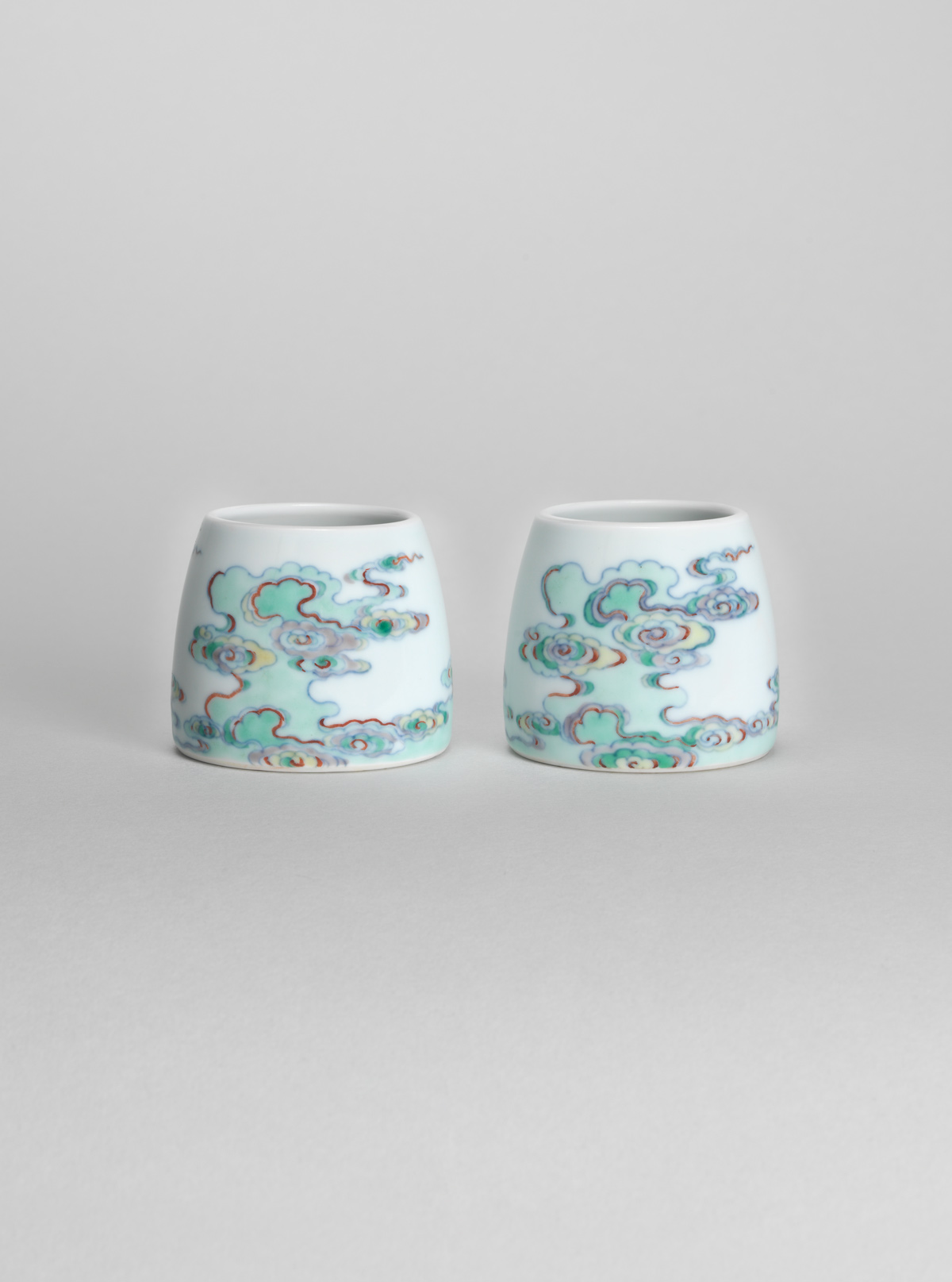 Pair of Doucai Porcelain Waterpots