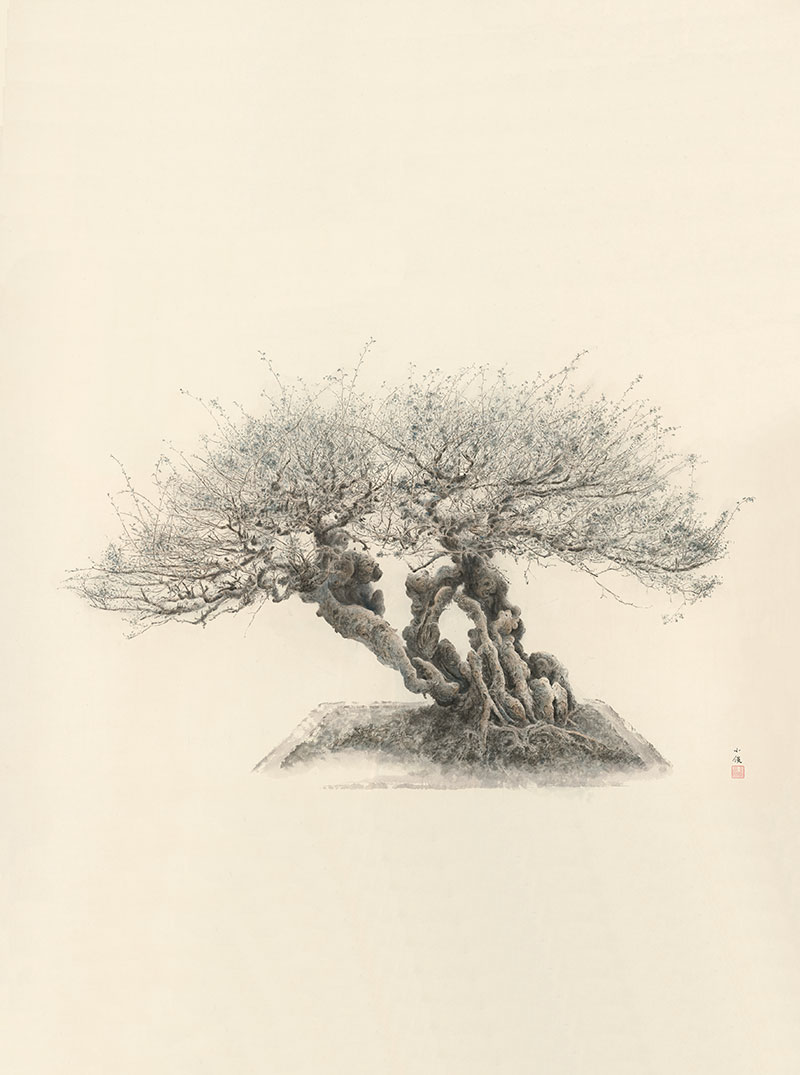 Recent paintings by Zeng Xiaojun