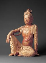 View Wood figure of Guanyin