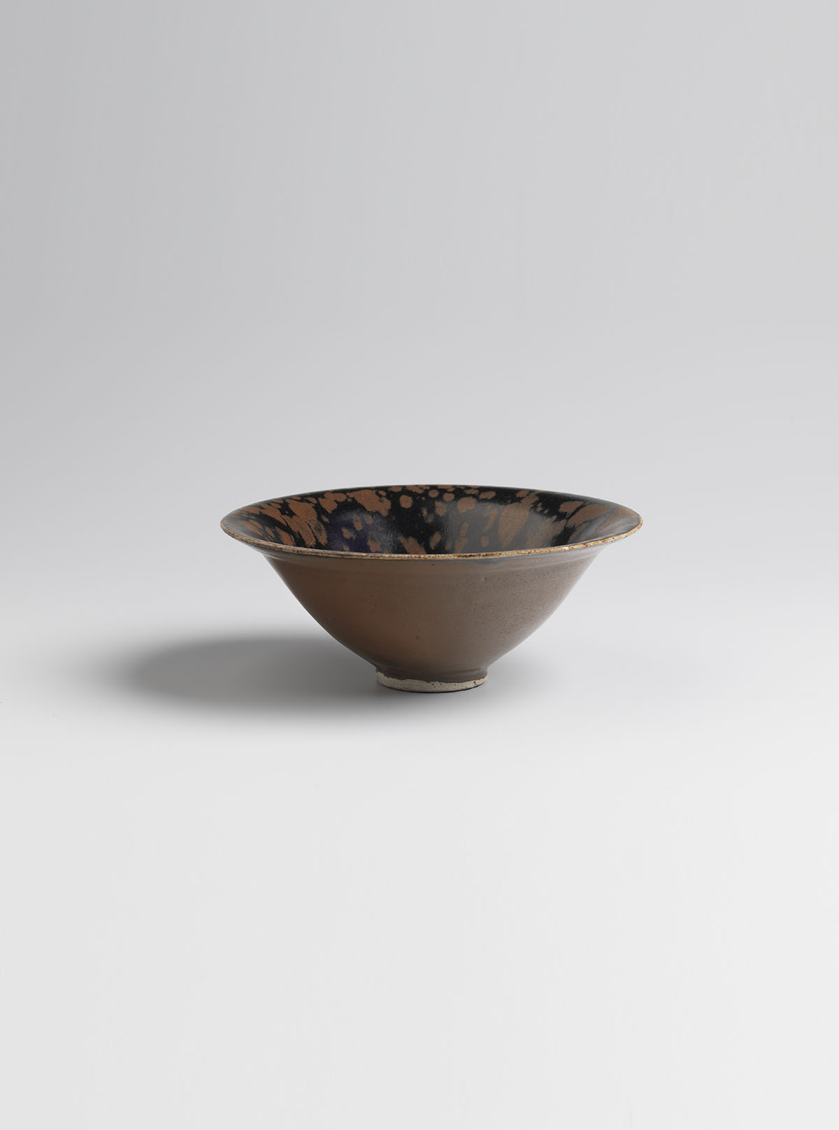 Glazed Stoneware 'Partridge Feather' Tea-bowl
