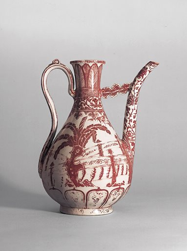 Copper-red Decorated Porcelain Ewer