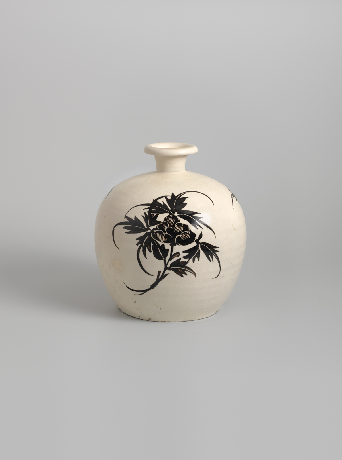 Glazed stoneware truncated vase (xiaokouping)