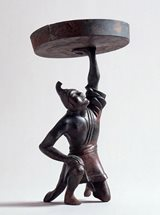 View Bronze Figural Oil-lamp