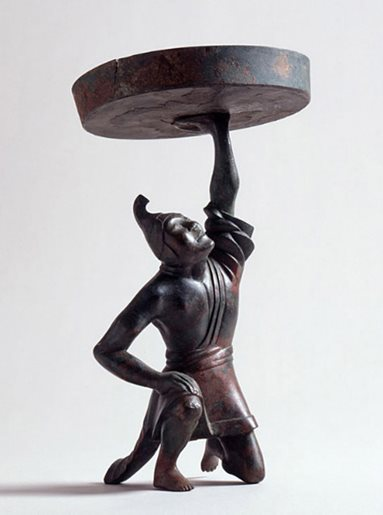 Bronze Figural Oil-lamp