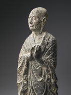 Limestone Figure of a Monk